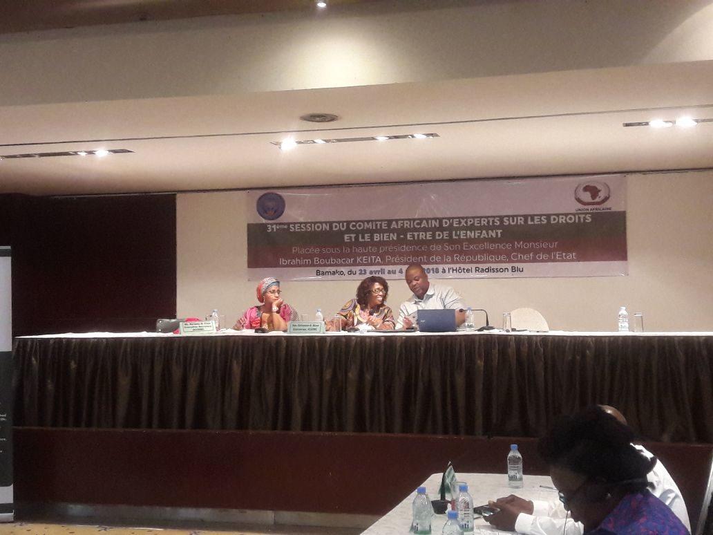 ACERWC 31 Bamako 2018-04-24