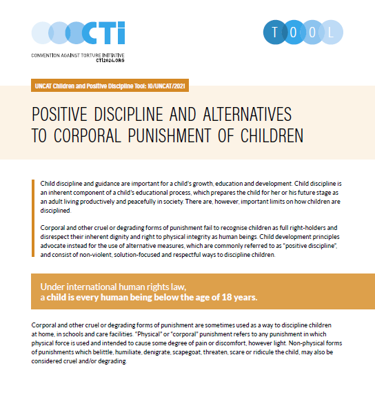 Positive Discipline and Alternatives to Corporal Punishment